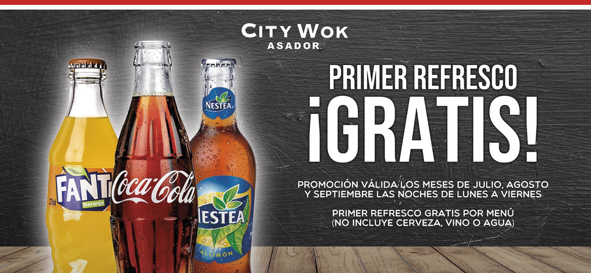 Oferta bebida gratis citywok elche