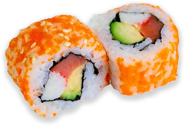 California Maki de Masago naranja