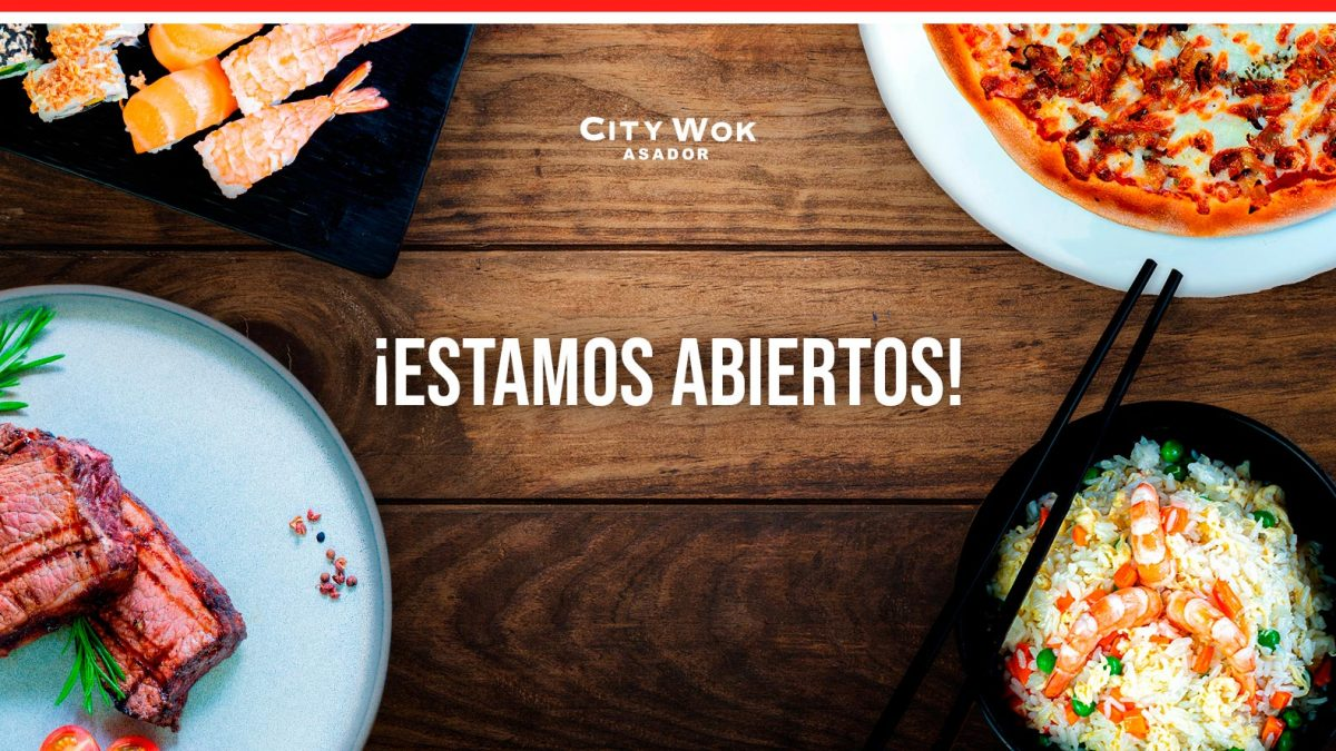 Estamos abiertos - City Wok Elche